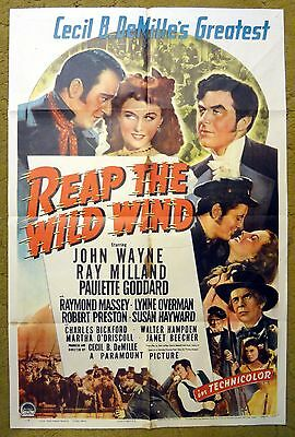 """""""REAP THE WILD WIND"""" Thrilling Adventure of High Sea with John Wayne - poster"""