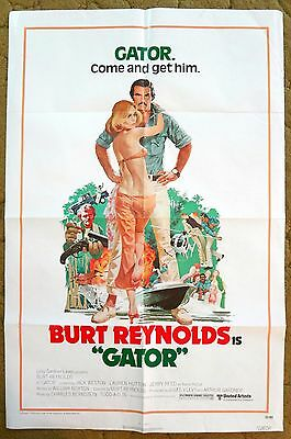 "Burt Reynolds is ""GATOR"" & helps bring down a Corrupt Politician - Movie Poster"