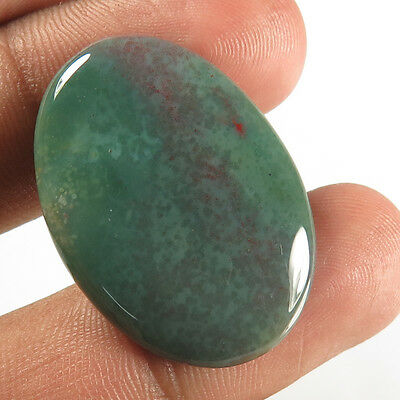 Charming 25.00 Cts. Natural BLOODSTONE Gemstone Oval Cabochon 31x22 mm Wholesale