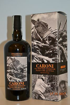 Rum CARONI 2000 15y.o. Rare Single Cask n° 3783  Velier with box