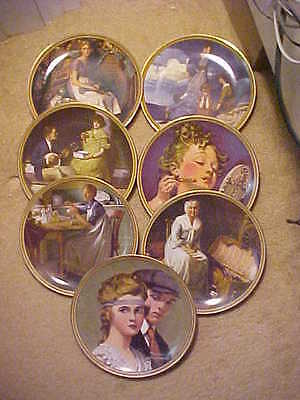 Lot Of 7 Vintage Norman Rockwell Rediscovered Women's Series Ex Con #1-4,9,10,12