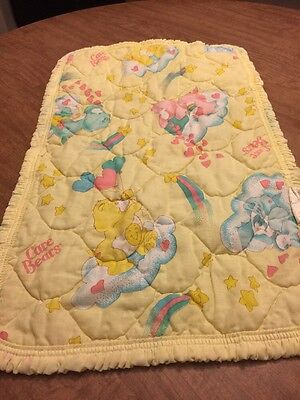 Vintage Care Bears Kendall Company Small Quilted Fabric VTG Care Bears