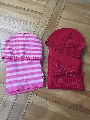 Girls Scarf & Hat Set X 2 Age 6-8 George