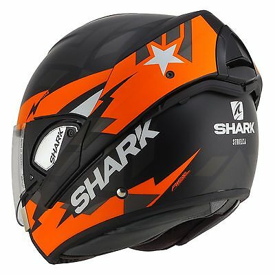 Casque Modulable Convertible Shark Evoline 3 Strelka Noir Orange Mat KOA