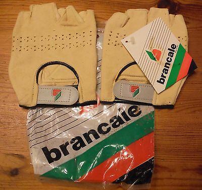 NOS BRANCALE BICYCLE GLOVES 1980'S  HANDMADE IN ITALY Free Lower 48 State Ship