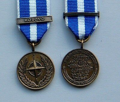 ONE Minature of the Nato KOSOVO Medal