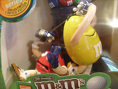 M&M Golf Muligan-ville Candy Dispenser, 1st in Series, Collectible Limited,NIB