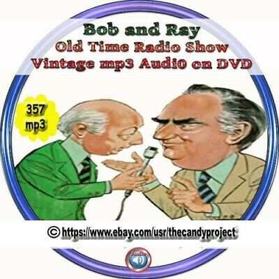 Bob and Ray Old Time Radio Shows Comedy 357 Funny otr Vintage Audio Mp3 CD