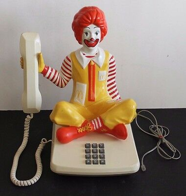 VINTAGE 1980 RONALD McDONALD TELEPHONE - RUBICAM CREATIVE PRODUCTS