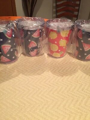 Martha Stewart Collection--Set Of Four Summer Tumblers--Assorted--New