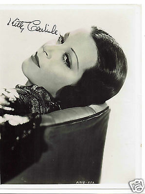 Kitty Carlisle Actress Night of the Opera Hand Signed Vintage Photograph 10 x 8