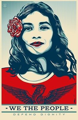 Shepard Fairey We The People Defend Dignity - Signed Offset Print 24x36
