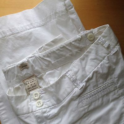 Old Navy White Real Waist Maternity Pants - Size 10
