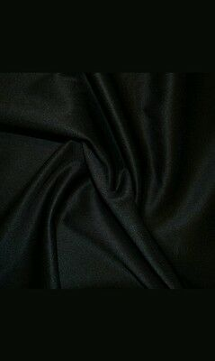 "Shiny Faux LEATHER Look Polyester Stretch Dance Fabric Material 60"" Width BLACK"