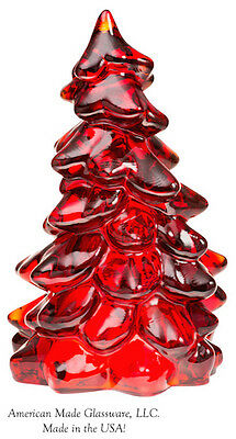 Red Glass Christmas Tree - Mosser - Large 8""