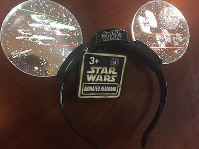 Disney Parks STAR WARS Animated Light Up Mickey Ears Headband SOLD OUT Free Ship