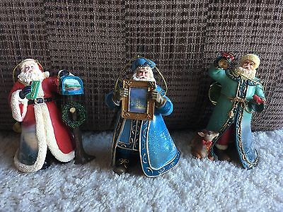 Set of 3 THOMAS KINKADE OLD WORLD SANTAS CHRISTMAS Ornaments#21 NIB.