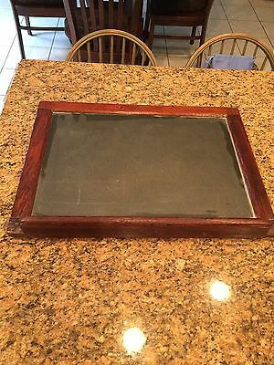 "Vintage Chalk Board-Wood Frame/Slate 22""x17"" Approximately"