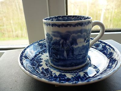Vintage Booths Blue And White Cup And Saucer
