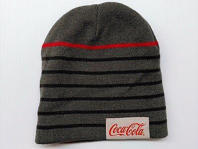 Coca-Cola Reversible Grey & Red Beanie - BRAND NEW