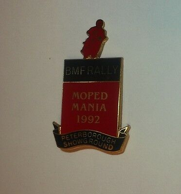 British Motor Cyclists Federation Rally Moped Mania 1992 - Enamel Badge