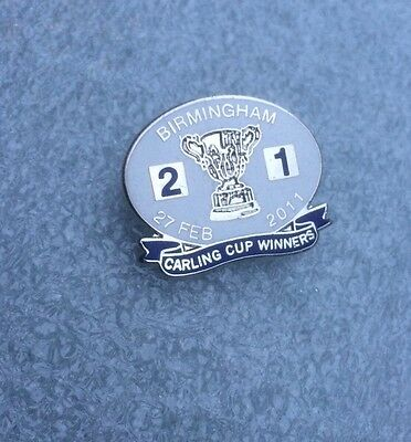 Birmingham City Supporter  Enamel Badge - Carling Cup Winners  2011