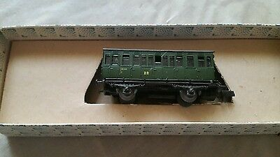 A model railway German coach in N gauge by piko boxed