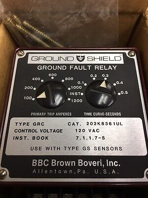 BBC Brown Boveri (202K8361UL) Ground Fault Shield, 100-1200 amp INST-0.5 sec