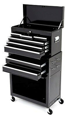 ROLLING TOOL CHEST AND CABINET - Black