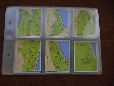 Full Set Cigarette Cards - Players Championship Golf Courses