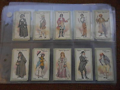 Full Set Cigarette Cards - Players Characters From Thackeray