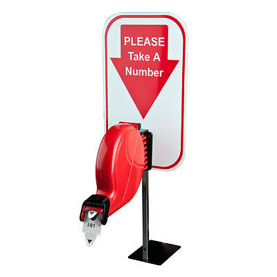 Take A Number Ticket Dispenser Kit for Retail Services