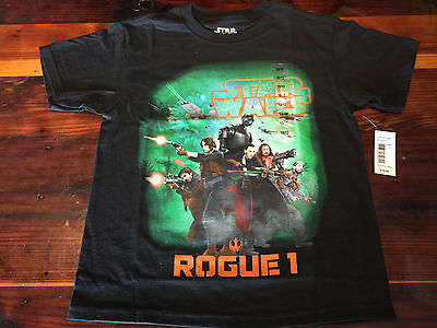 NEW Official Star Wars Rogue 1 One Movie Logo T-Shirt Youth Sizes Green Shadow