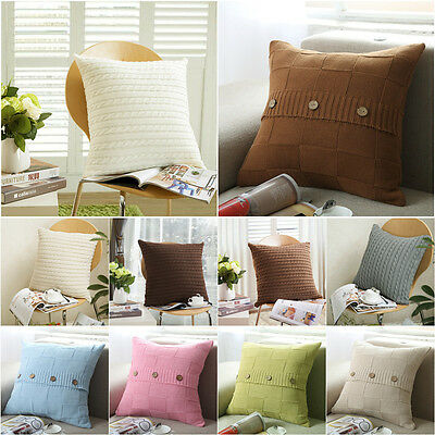 45*45CM Jacquard Soft Knitted Cushion Covers Sofa Pillow Cases Cover Home Decors