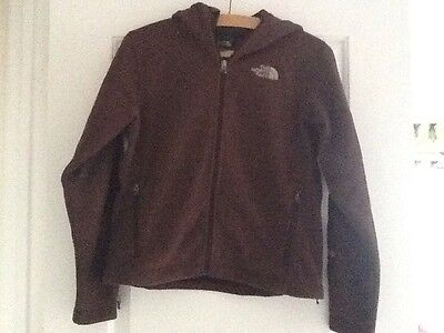 Hooded Brown The North Face Windwall Fleece Jacket - size XS