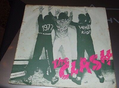 """The Clash White Riot 7"""" 1977 picture sleeve"""
