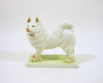 Herend, Pomeranian Pom Pom Dog, Antique Handpainted Porcelain Figurine 1930's !