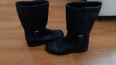 Girls Black Clarks Boots. Used.  Size 1