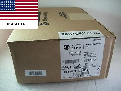 *Ships Today* Sealed Allen Bradley 2711P-T6C20D8  Panelview Plus *NEW 2016*