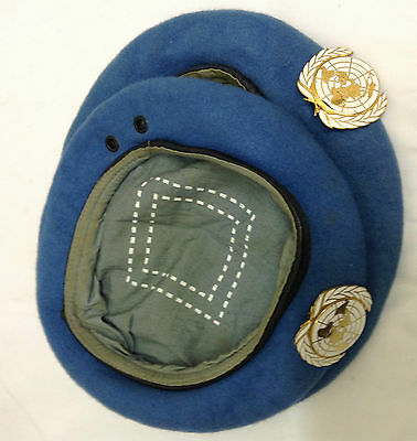 Original Pair of United Nations Berets with Badges