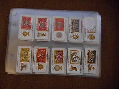 Full Set Cigarette Cards - Players Drum Banners And Cap Badges