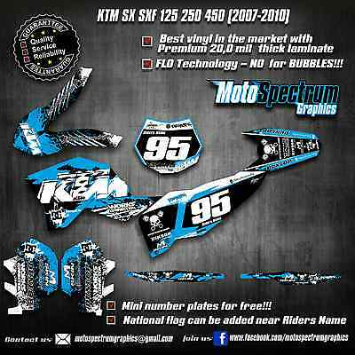 KTM SX SXF 125 250 450 2007 2008 2009 2010  graphics kit decals stickers