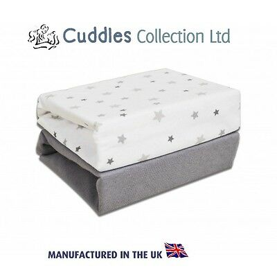 2 Pack Soft Jersey Cotton Cot Bed Fitted Sheets Magical Stars Lovely!
