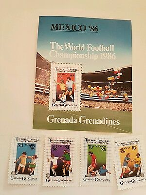 GRENADA GRENADINES Stamps Commerating World Cup Mexico 1986 .