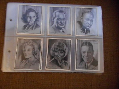 Full Set Cigarette Cards - Players Film Stars Large Sized Series