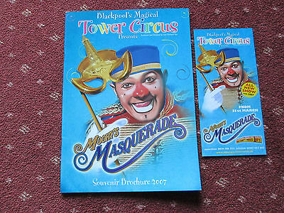"Blackpool Tower Circus Programme 2007 - ""mooky's Masquerade"""