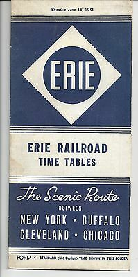 1941 Erie Railroad Time Tables The Front Page News