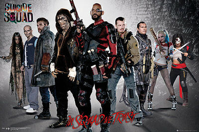 SUICIDE SQUAD Poster - GROUP - NEW SUICIDE SQUAD MOVIE POSTER FP4237