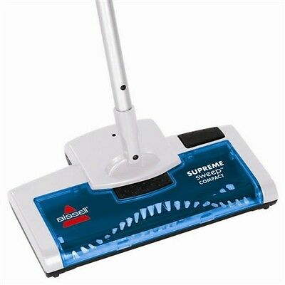 BISSELL Supreme Sweep Compact Rechargeable Floor Sweeper - Silver/Blue