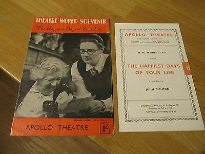 RARE 1947 Theatre World Souvenir & Programme 'The Happiest Days Of Your Life'